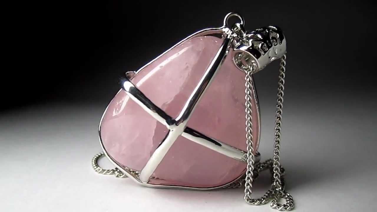 Минерал розовый кварц