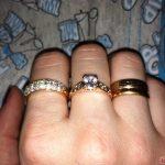 Расположение колец на пальцах рук у женщин